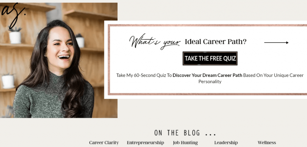 Ashley Stahl-Career coaching website