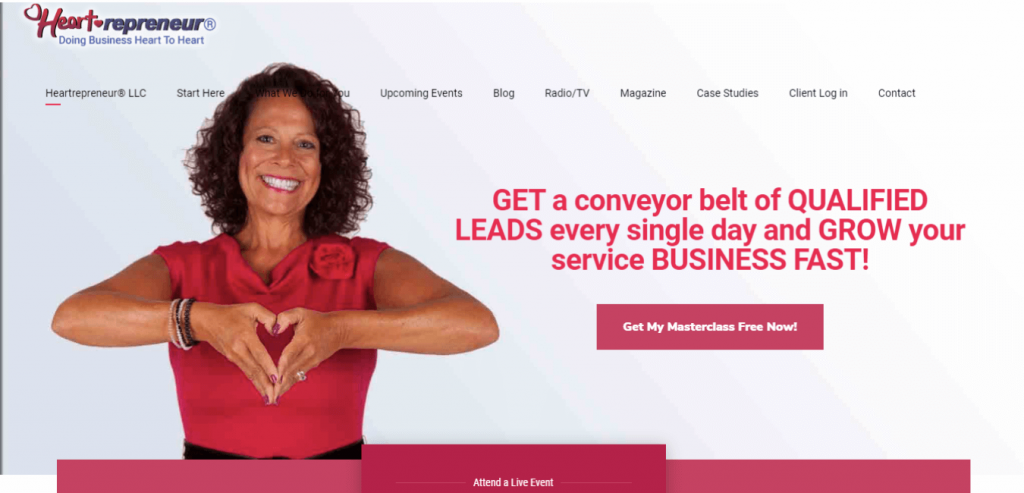 Heartrepreneur-Business coaching website