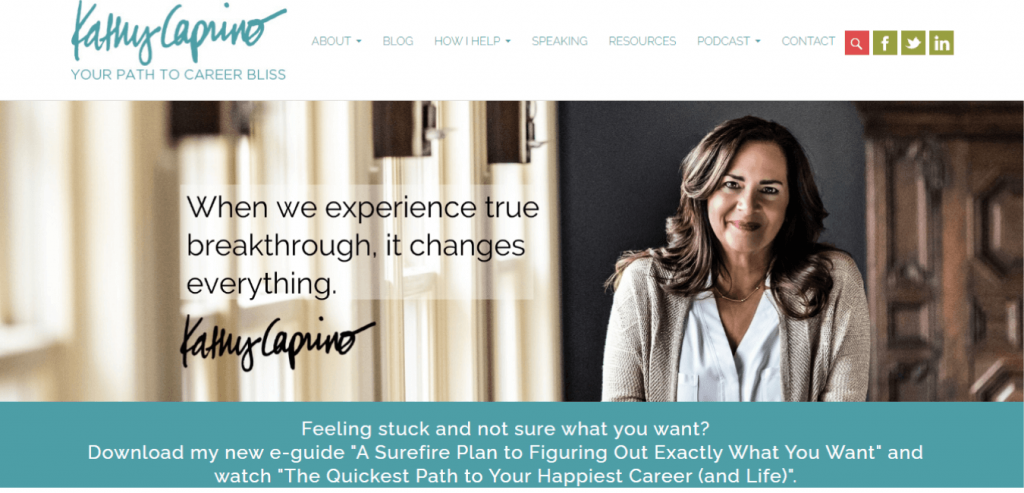 Kathy Caprino-Career coaching website