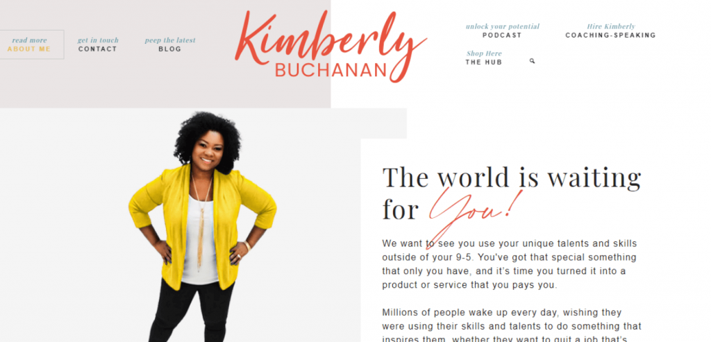 Kimberly Buchanan-Business coaching website