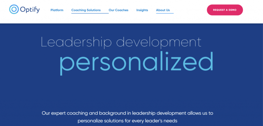 Optify-Leadership coaching website
